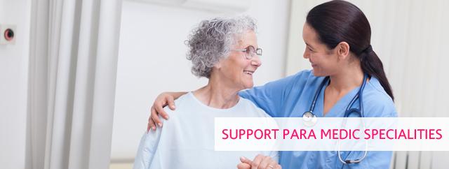 Support Para Medic Specialities